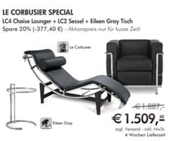 Bild von Le Corbusier LC2 + LC4 Chaiselongue + Adjustable Table by Eileen Green - THE SPECIAL