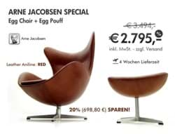 Bild von Arne Jacobsen Egg Chair + Fusshocker - THE SPECIAL